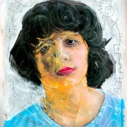 contemporary mixed media portrait by Gregory Beylerian