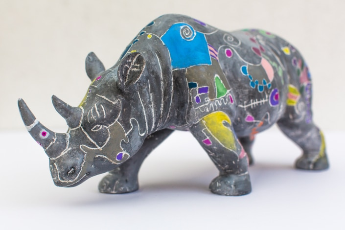 Rhino Sculpture by Gregory Beylerian