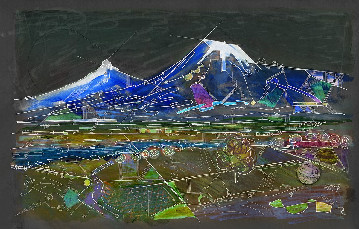 Ararat by Night, art of Armenia by Gregory Beylerian