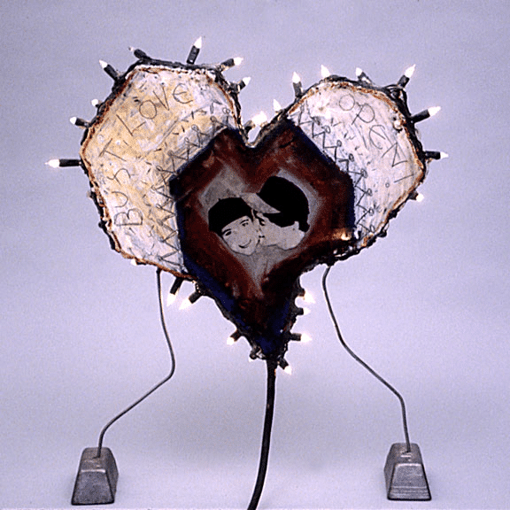Heart Lamp Sculpture