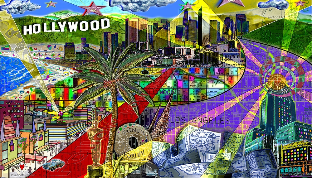 Hollywood-Mural-art