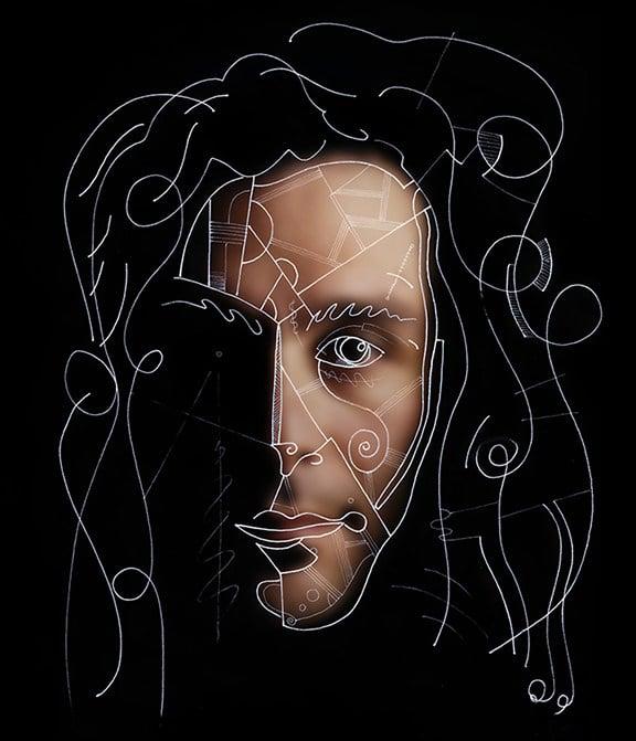 self portrait of Gregory Beylerian