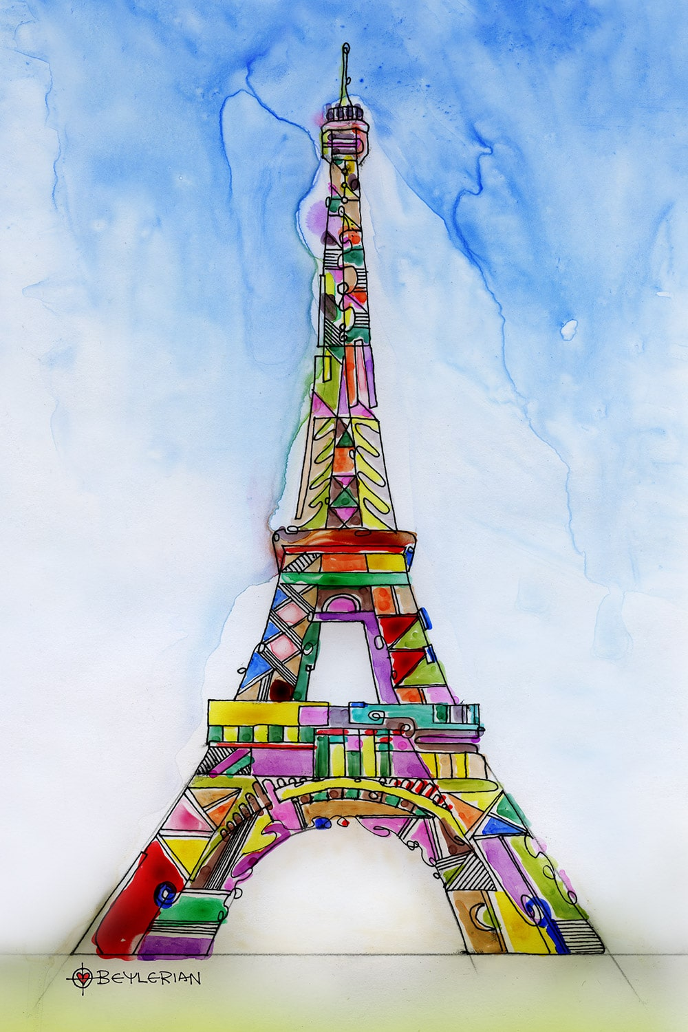 The Eiffel tower art