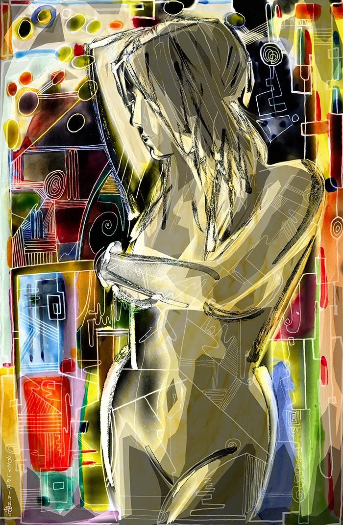 modern art nude