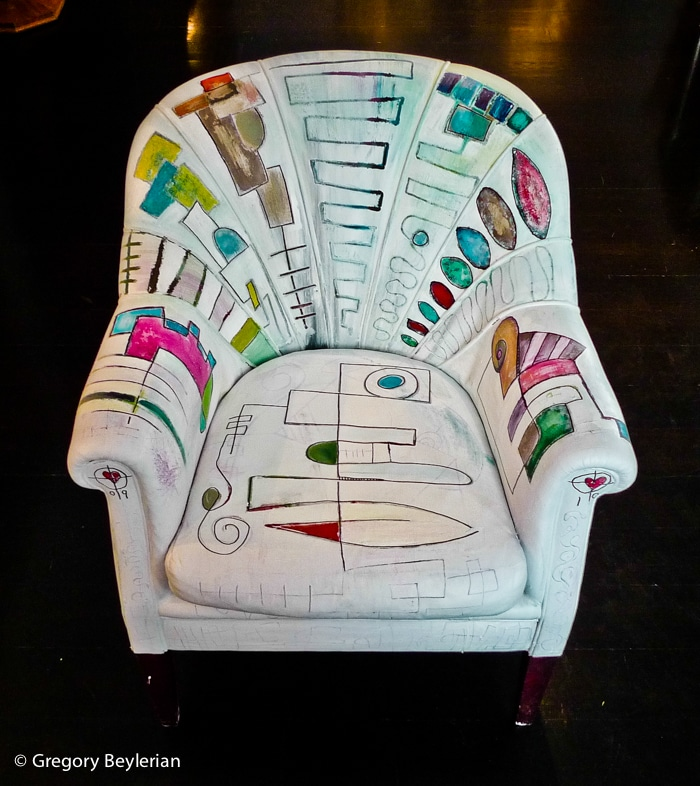 Painted art chair