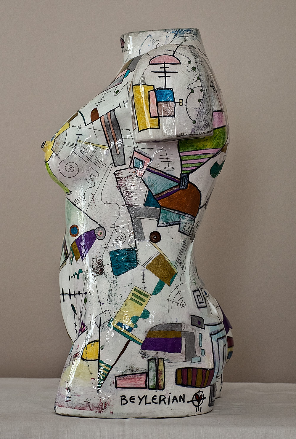 torso sculpture by beylerian