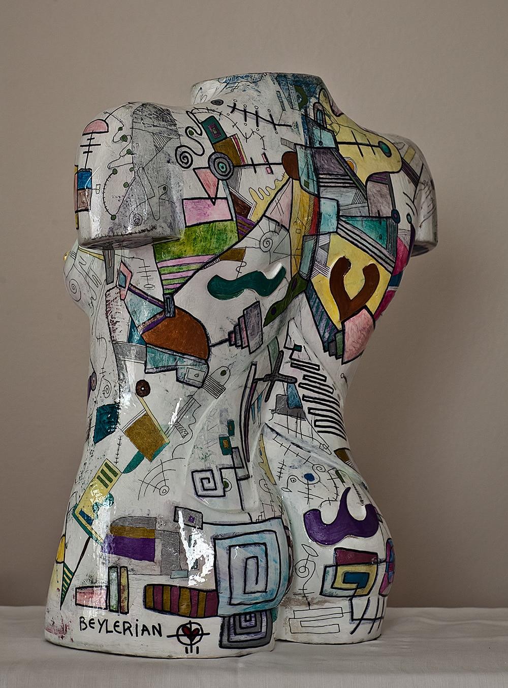 torso sculpture by beylerian