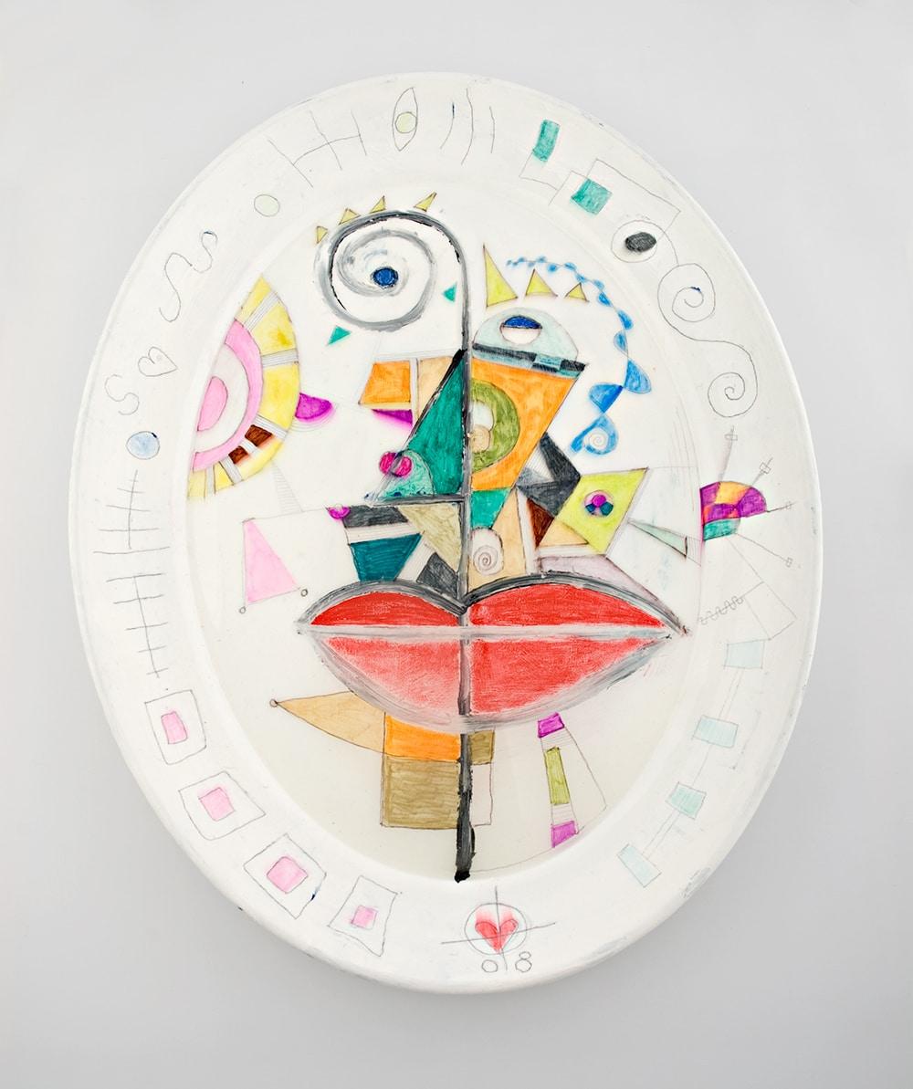 3 serving platters by gregory beylerian