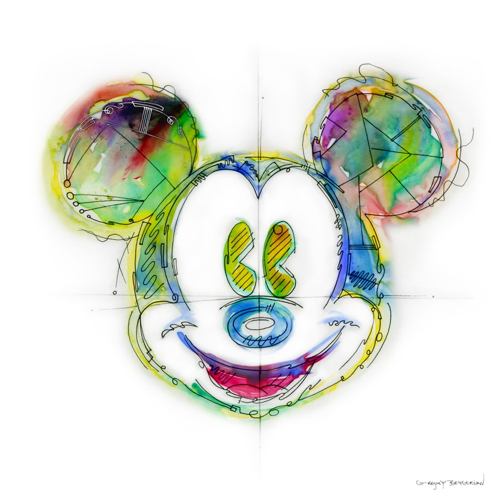 portrait of Mickey Mouse