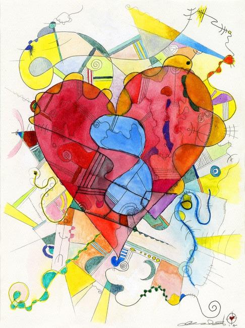 Infinite Love drawing by Gregory beylerian