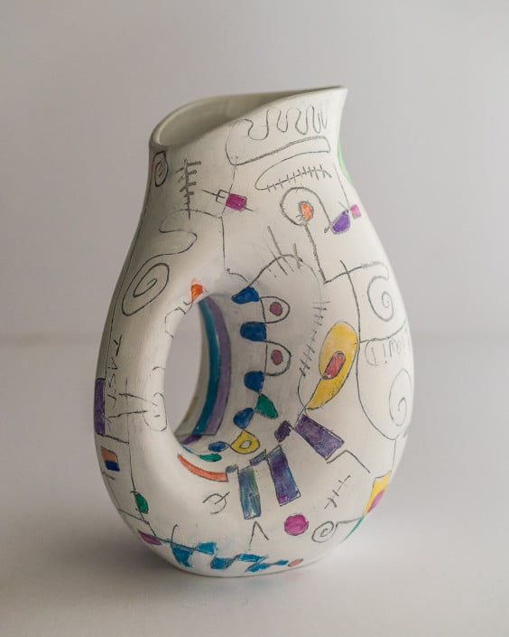 painted carafe