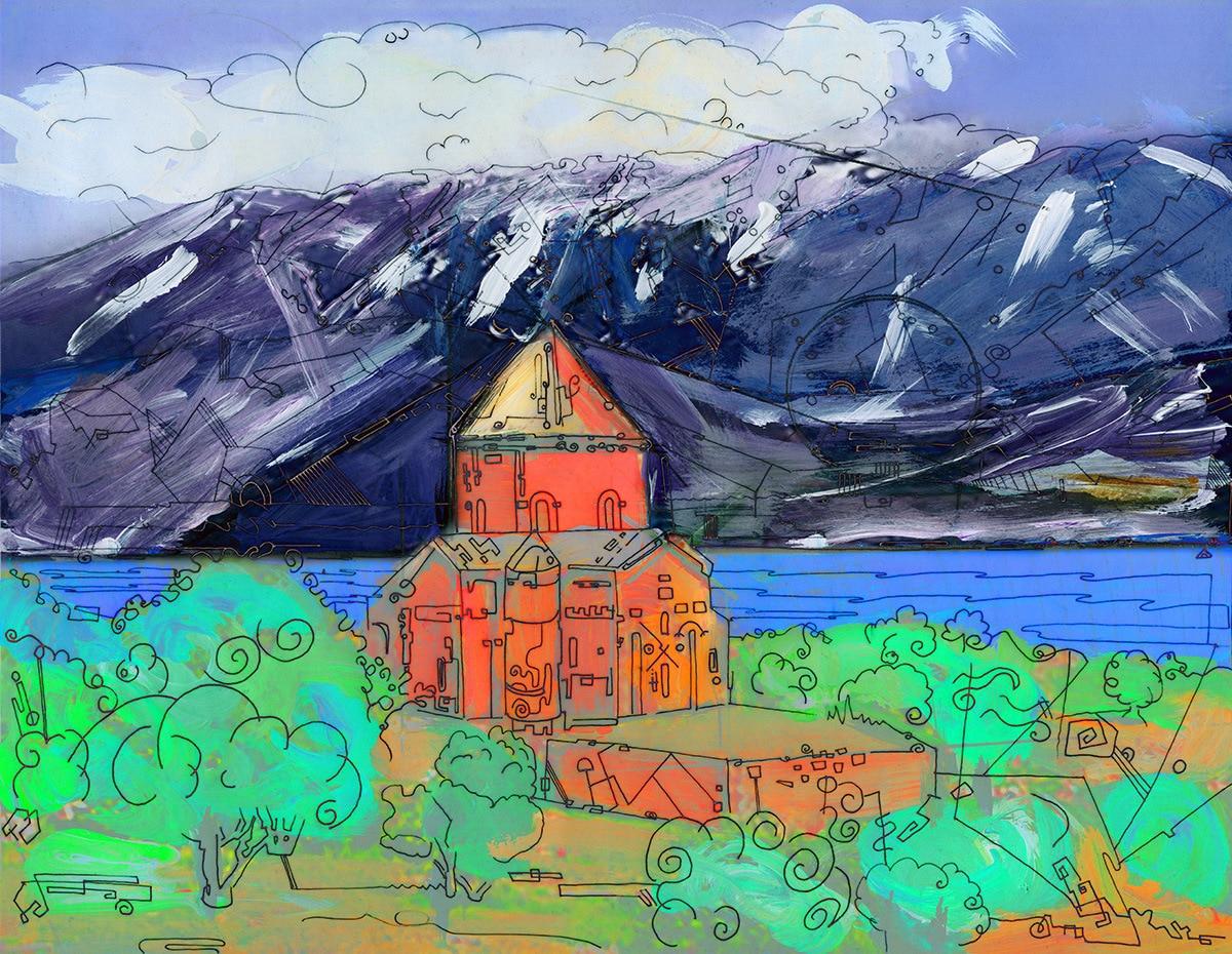 akhtamar church art by gregory beylerian