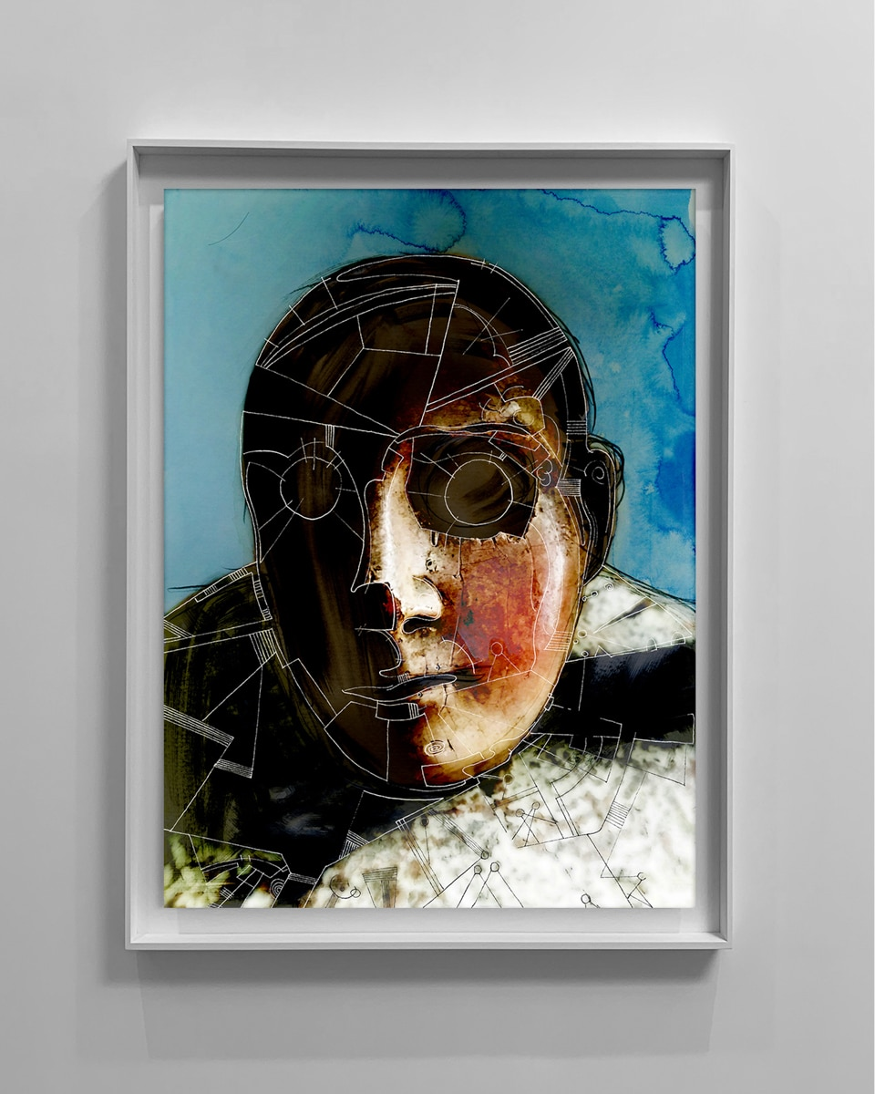 abstract contemporary portrait