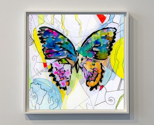 contemporary art depicting a butterfly by gregory beylerian