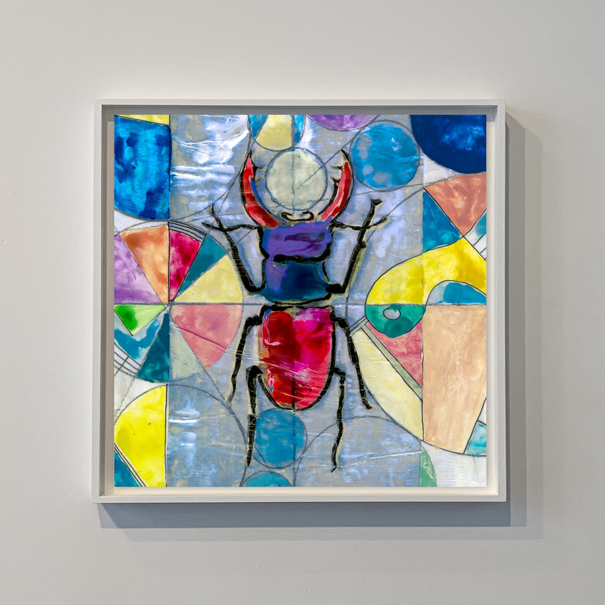 contemporary artwork of a beetle