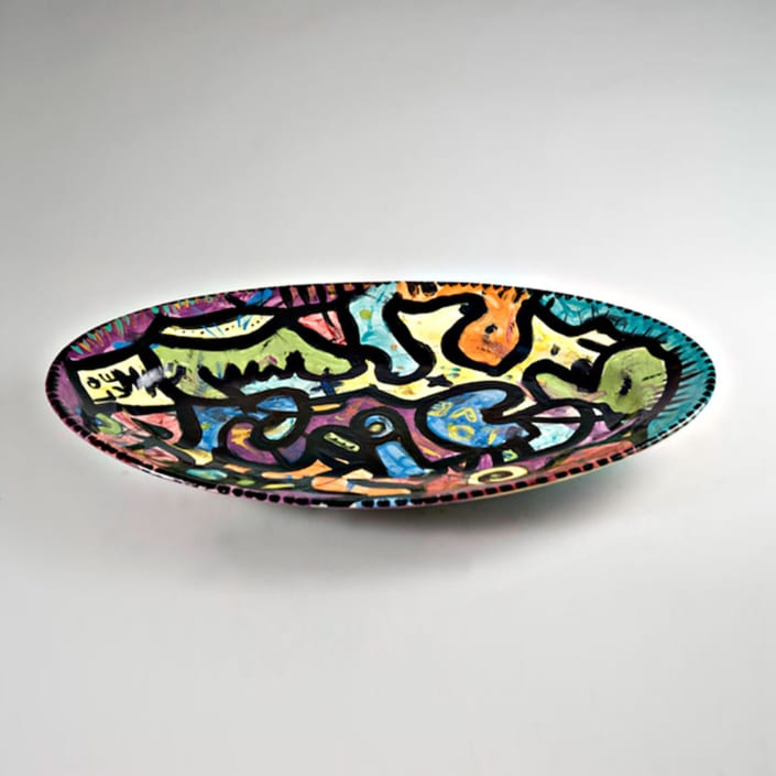 love platter ceramic serving dish