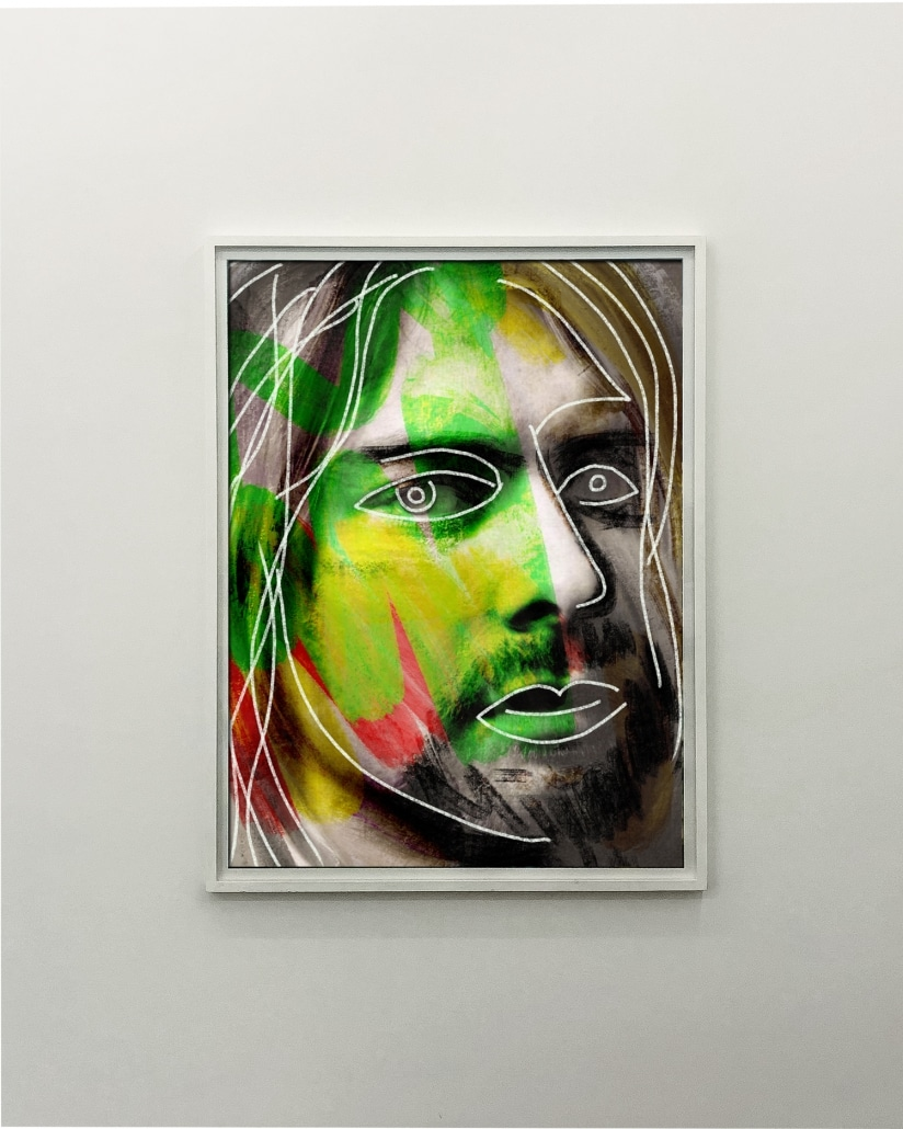 Portrait of Kurt Cobain