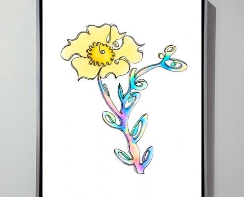 contemporary art flower