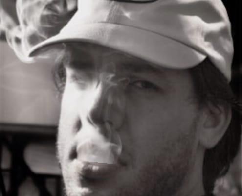 contemporary art portrait of ari smoking