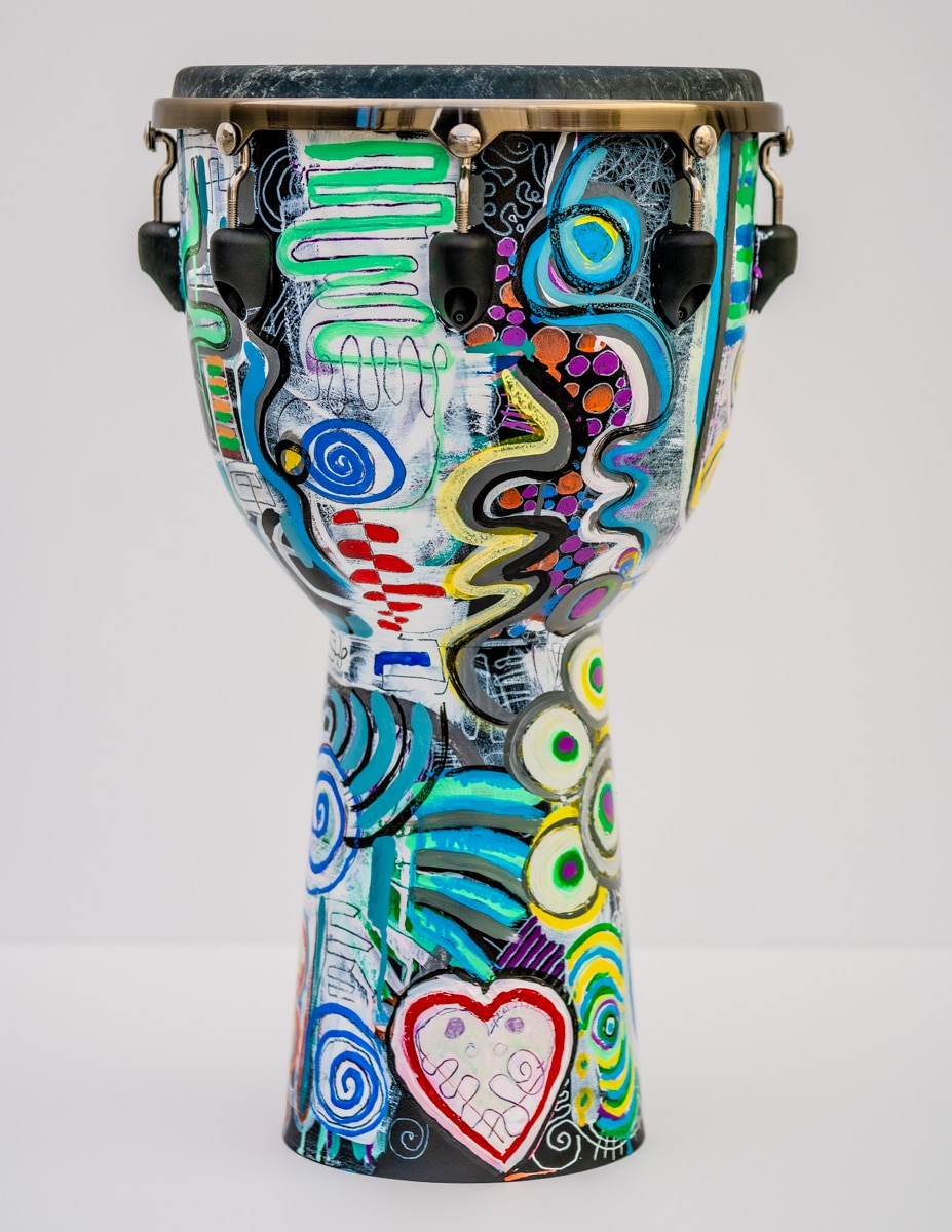 remo art djembe by Gregory Beylerian