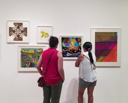 a selection of artworks displayed