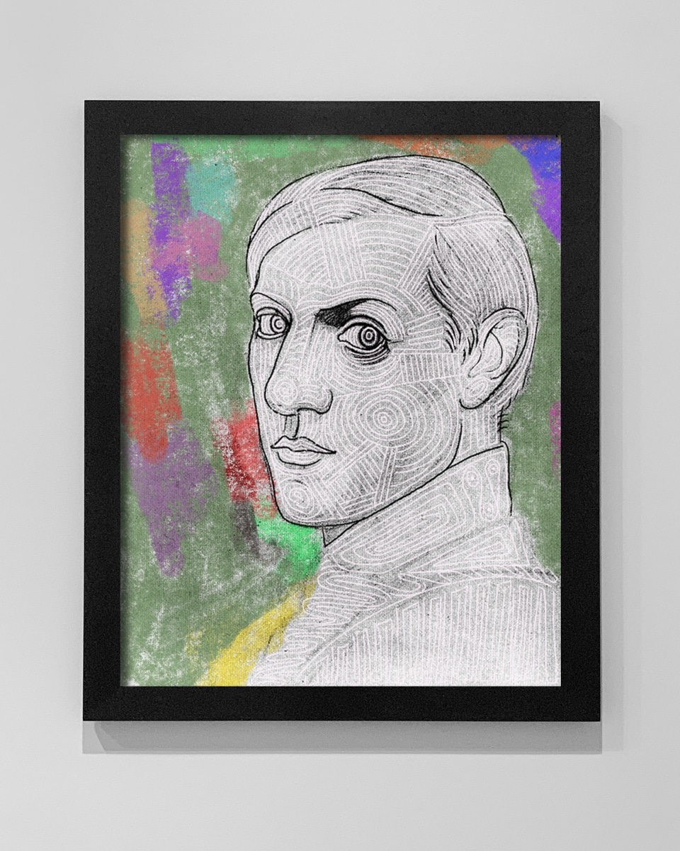 A portrait of young Picasso