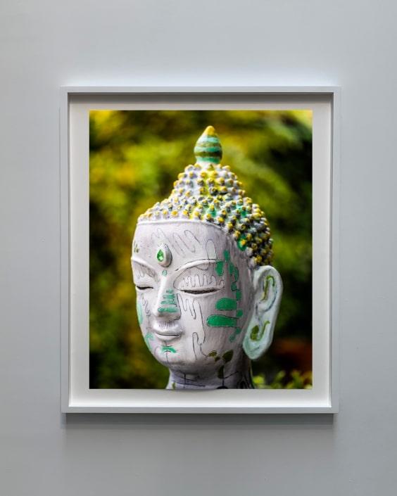 mixed media art portrait of buddha