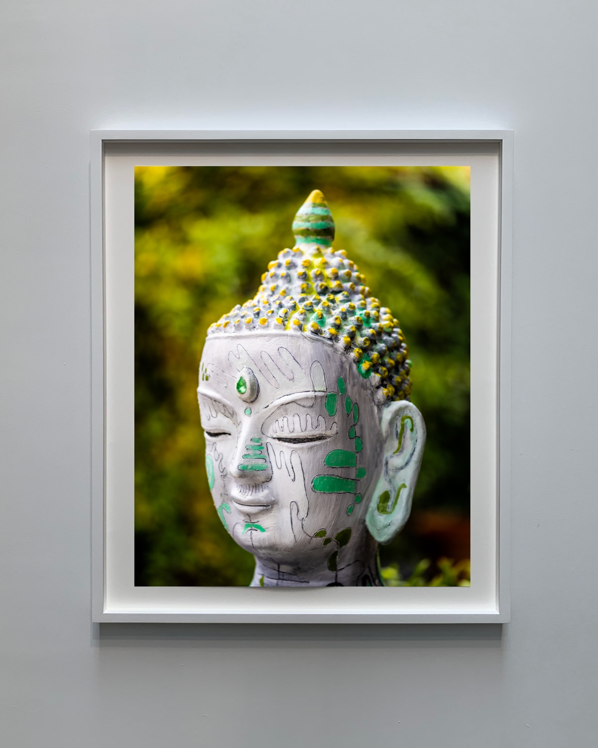 mixed media art portrait of buddha