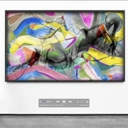 A figurative work of art that merges photographic aspects with painting, video and sound (GregJam 164) to stimulate a new dimension of awareness.