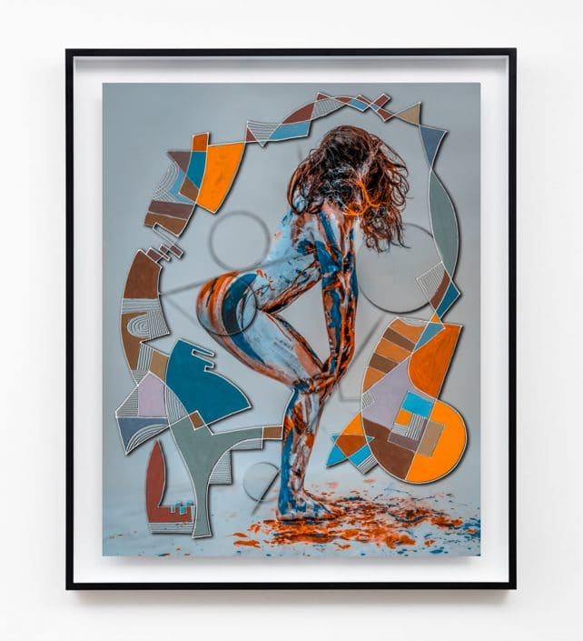 contemporary figure and line artwork