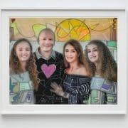 mixed media family portrait artwork