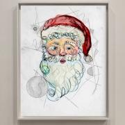 portrait painting of Santa Claus
