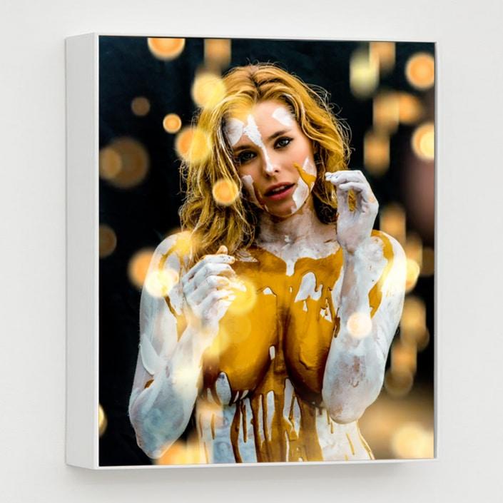 contemporary mixed media digital portrait by Gregory Beylerian