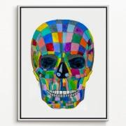 contemporary art of a human skull