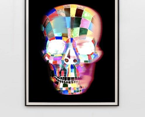 contemporary art of human skull