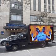 new media contemporary figurative art installation